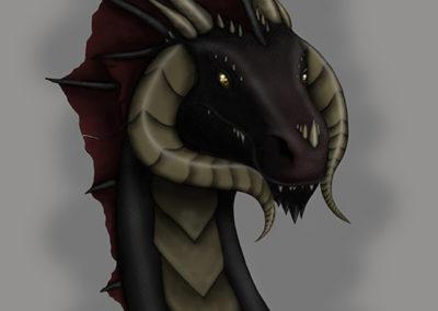 Black Draon Bust
